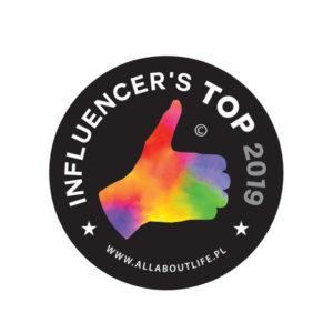 Dermofuture - logo nagrody INFLUENCER'S TOP 2019